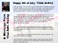 A 4th of July message 2011