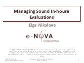 A9 managing sound in house evaluations