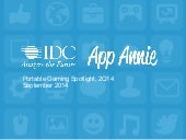 IDC & App Annie: Portable Gaming Spotlight, September 2014