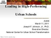 Aaae leading hp urban schools