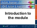 Section 1 - Introduction to the Module