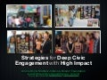 Strategies for Deep Civic Engagement with High Impact (Bonner at AAC&U)