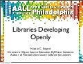 Libraries Developing Openly