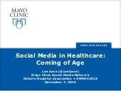 Social Media In Healthcare: Coming of Age