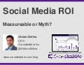 Social Media ROI: Measureable or Myth?