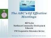 ABCs of Effective Meetings