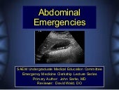 Abdominal Emergencies Cdem