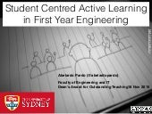 Student Centred, Active Learning in First Year Engineering