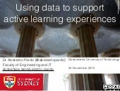Using data to support active learning experiences