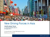 New driving forces in Asia