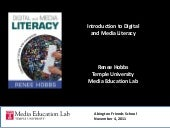 Digital and Media Literacy