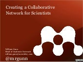 AGU2012: Creating a Collaborative Network for Scientists