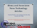 Abney and Associates News Technology Articles