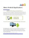 About android applications