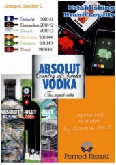 Absolut vodka, developing high bran...