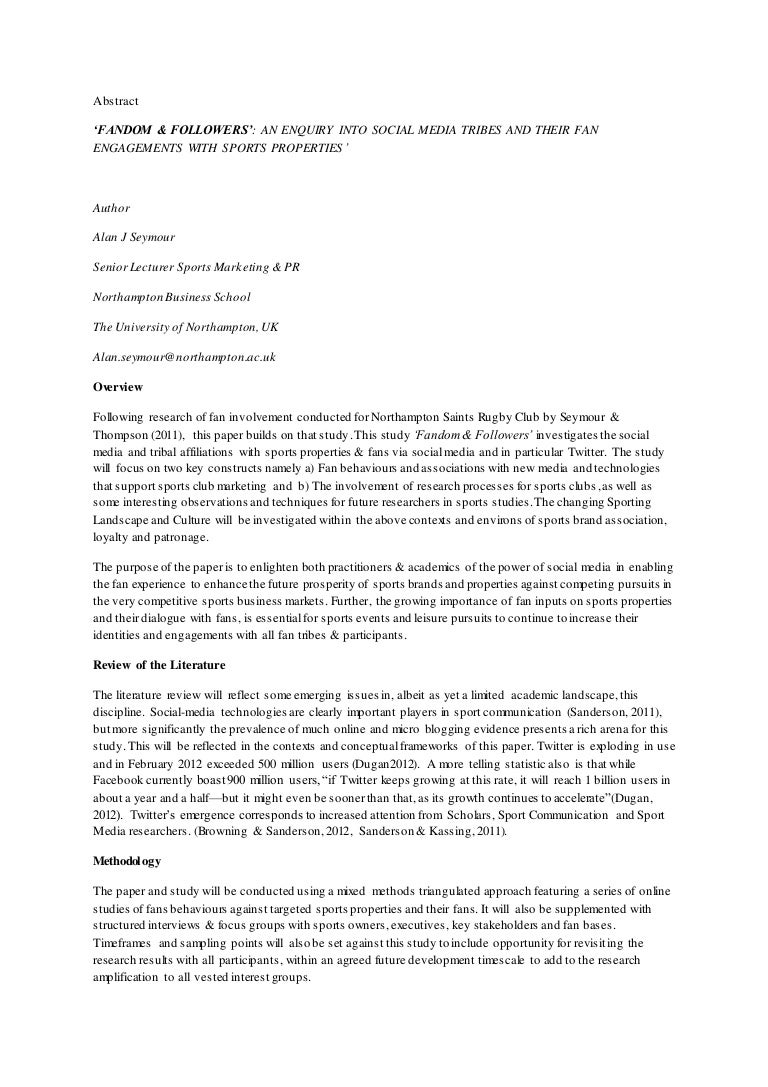 Business management research paper