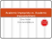 Academic Impropriety Vs academic im...