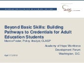 Beyond Basic Skills: Building Pathw...