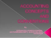 Accounting concepts & conventions.