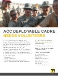 Army Contracting Deployable Cadre Flyer
