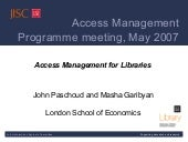 Access Management for Libraries by ...
