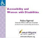 Accessibility and women with disabi...