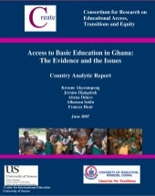 Access to basic education in ghana