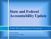 AYP and State Accountability Update