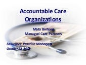 Accountable care organizations lawr...