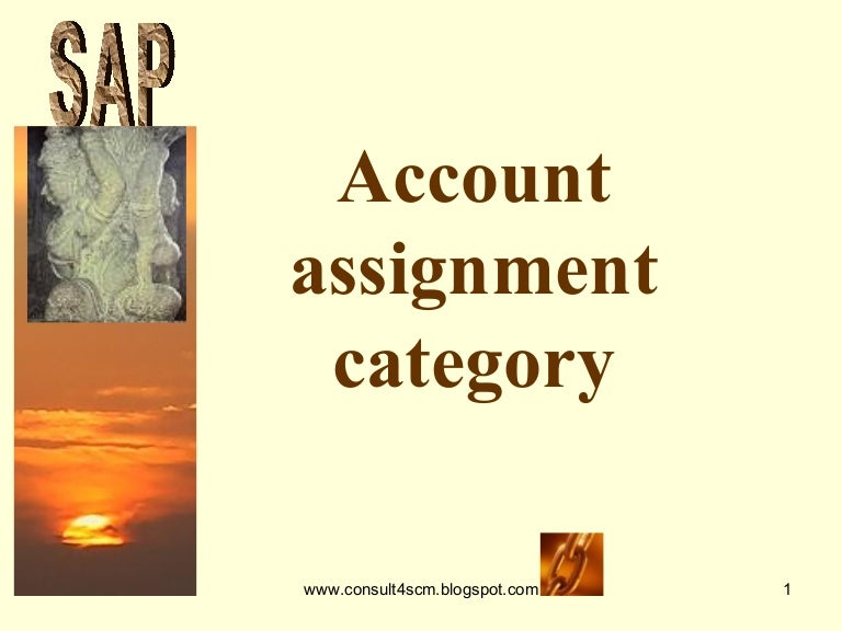 Account assignment