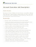 Account Executive Job Description
