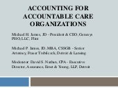 Accounting for Accountable Care Org...