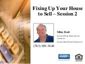 Fixing up Your House to Sell - Sess...