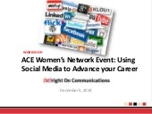 ACE Women's Network - How social media can advance your career