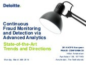 ACFE Presentation on Analytics for ...
