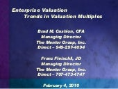 Enterprise Valuation-Trends in Val...