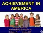 Achievement in america