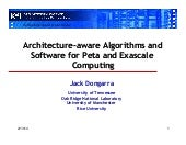 Achitecture Aware Algorithms and So...