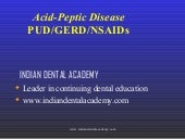 Acid peptic disease /Dental courses...