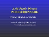 Acid peptic disease /dental courses
