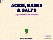 Acids, bases and salts IGCSE Chemis...