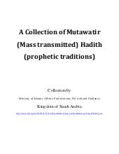 A Collection of Mutawatir (Mass tra...