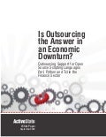 Is Outsourcing the Answer in an Economic Downturn? Outsourcing Support for Open Source Scripting Languages Perl, Python and Tcl in the Finance Sector