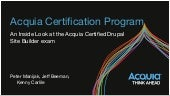 An Inside Look: Acquia Certified Drupal Site Builder Exam