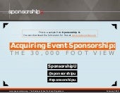 Acquiring Event Sponsorship: The 30...