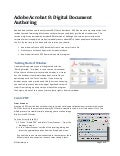 Acrobat Digital Document Authoring