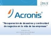 Acronis colombia event agosto 2010