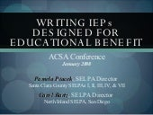 Writing IEPs