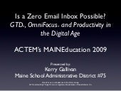Is a Zero Email Inbox Possible? GTD...
