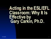 Acting In the ESL Classroom